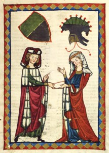 10. Unknown Artist - Illustration From Codex Manesse - Burkart von Hohenfels, 14th Century