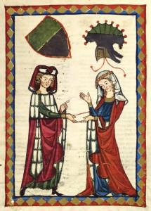 10. Unknown Artist - Illustration From Codex Manesse - Burkart von Hohenfels, 14th Century